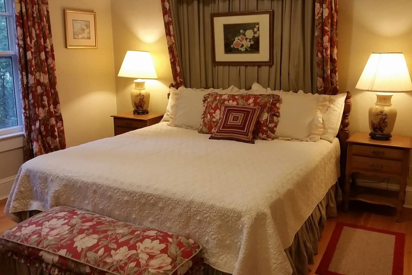 Rest well in this home in the comfortable king bed in the first bedroom