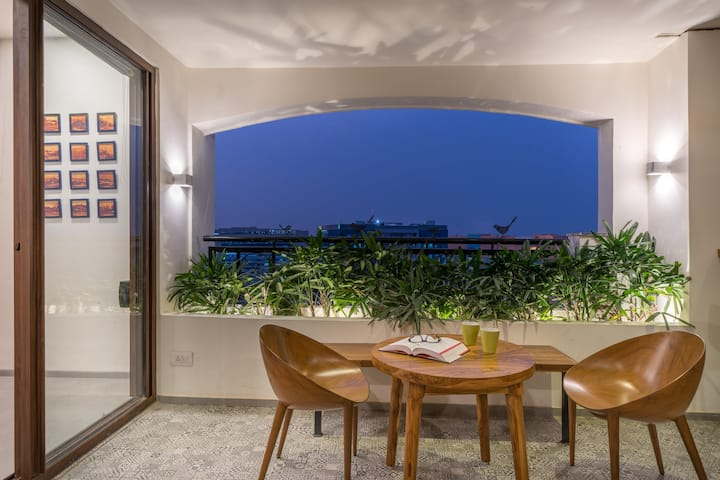 Designer apartment with breathtaking views.