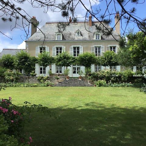 Maison XVIIIe - Chambre verte
