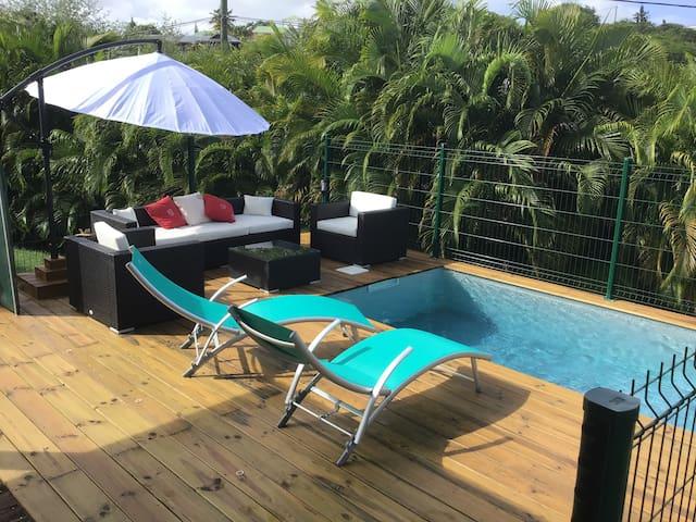 Bungalow avec piscine privative : Ti Kaz Tortue