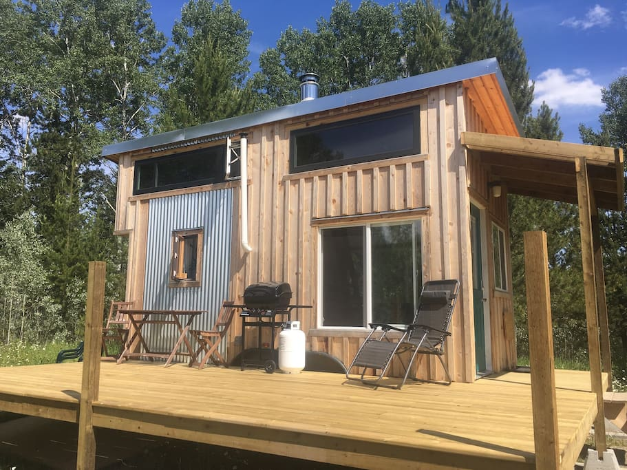 The Tiny Home and it's new deck!