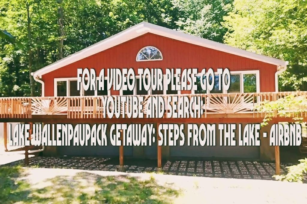 Head to Youtube for a video tour of the outdoor space. Search: Lake Wallenpaupack Getaway: Steps From The Lake - AIRBNB