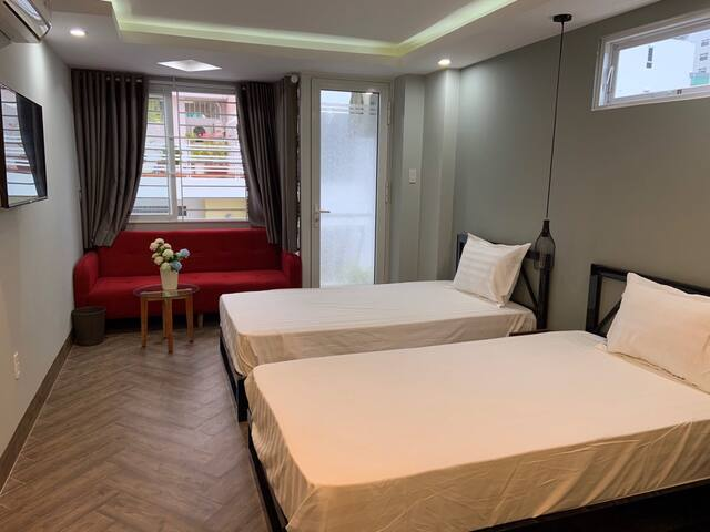 Convenient 2 beds-room in NhaTrang CBD.NewHome apt