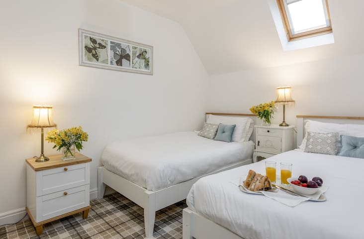 Bedroom 3 - full size twin single beds