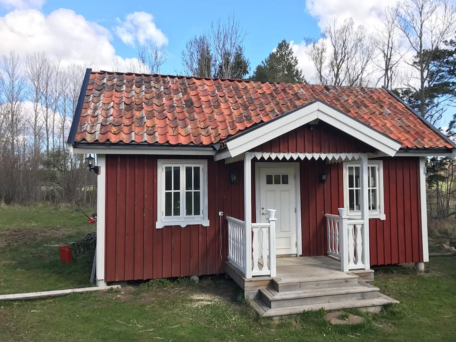 Lilla huset som rymmer två sovrum
