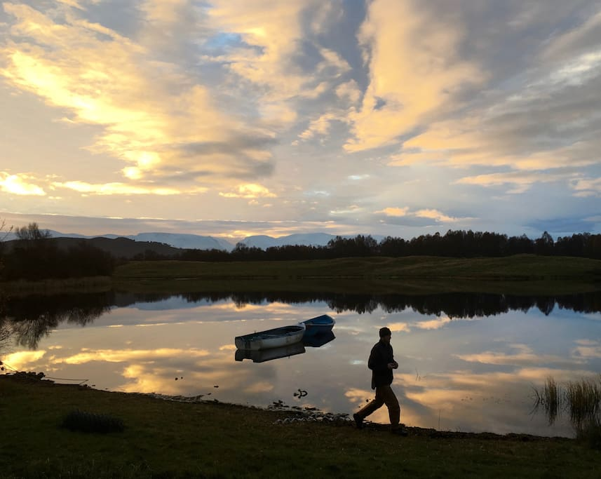 Enjoy an evening stroll along the loch