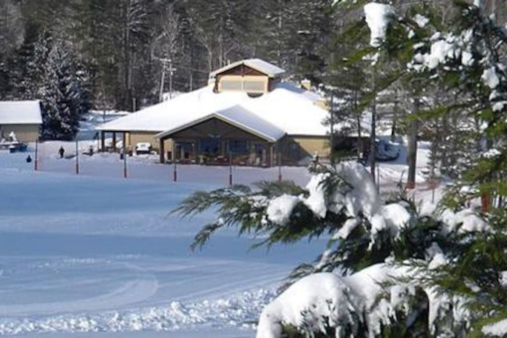 The ski lodge and ski slopes are open and there is plenty of snow now!  Ski equipment available for rent. A lift ticket must be purchased to use the ski slopes.