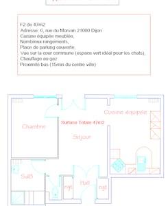 T2 47m2 - Dijon