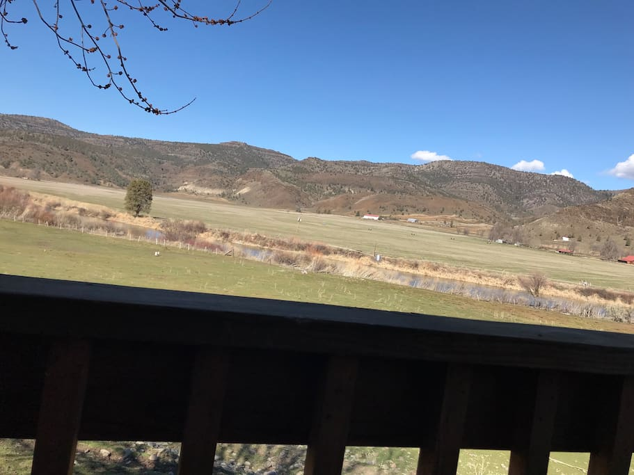 The view off of the Master Bedroom private deck.