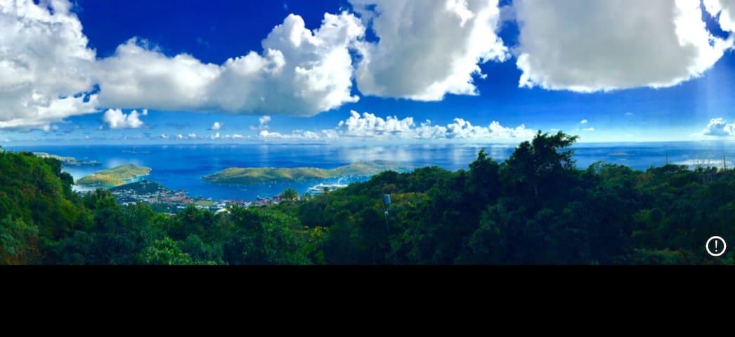 Mountain Top Home View St. Thomas Harbor