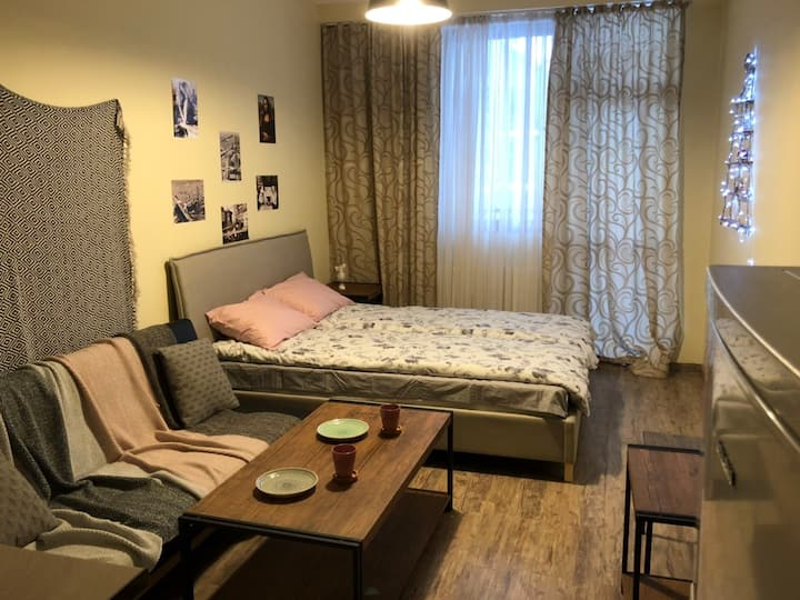 Studio Apartment in Center of Bakuriani, 3 persons