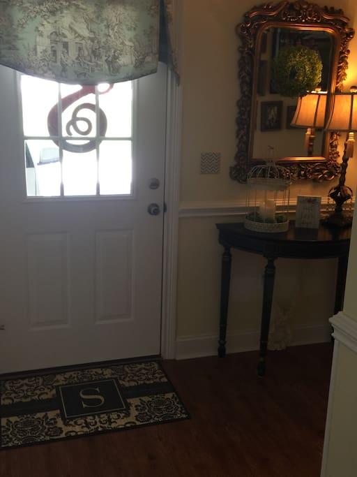 Hallway from the garage entrance door