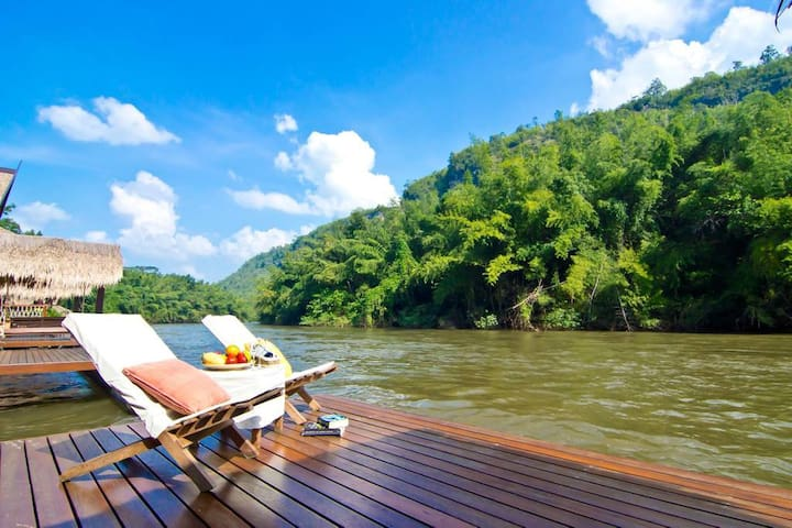 Floating Villa on the River Kwai