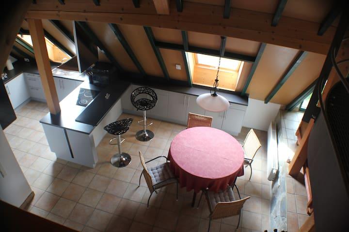 Gemütliche Wohnung,im ruhigen Dorf Nähe Straßburg