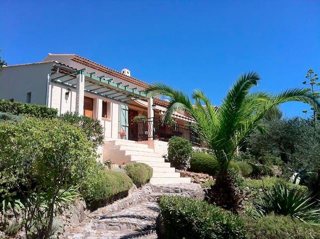 Cote d'Azur villa, pool superb view - Le Tignet - Casa