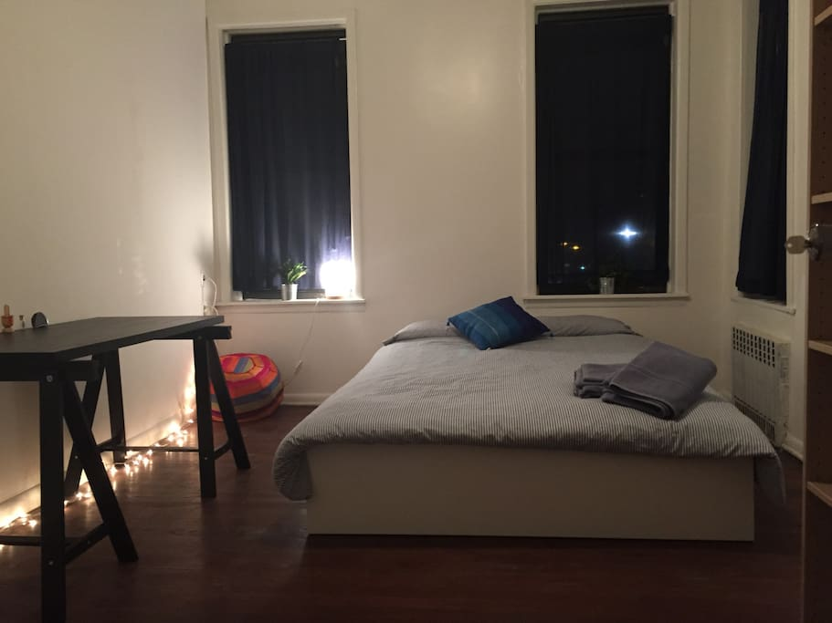 Comfy bed for a nights rest after exploring the city :)