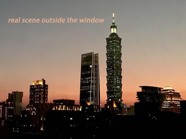 Taipei 101 view spacious Loft