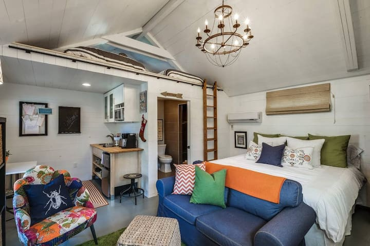 Vaulted ceilings with tons of character!
