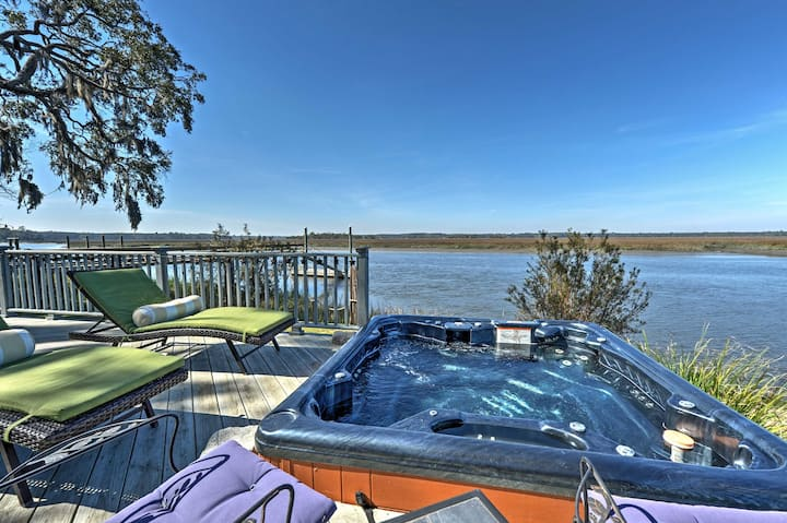 Secluded Colonels Island Casita: Shared Dock, View