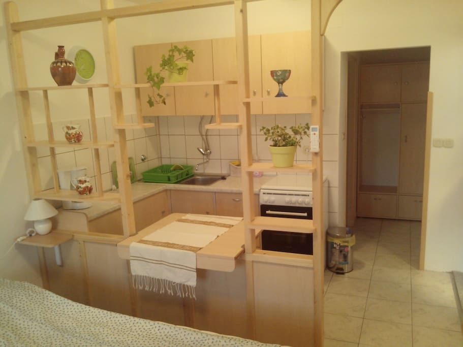 A kitchenette