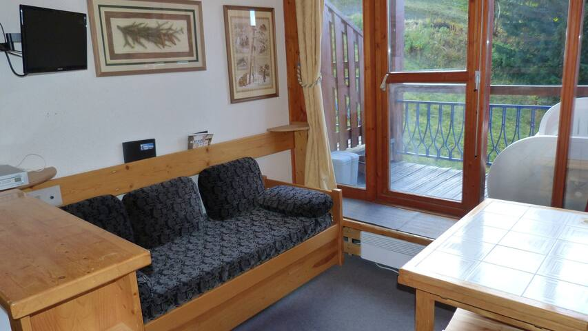 Studio for 5 persons in Arc 1800 next to the slopes in Charmettoger neighbourhood