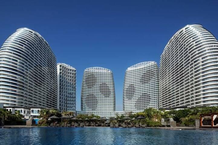 双月湾檀悦豪生温泉度假酒店海景两房一厅公寓房