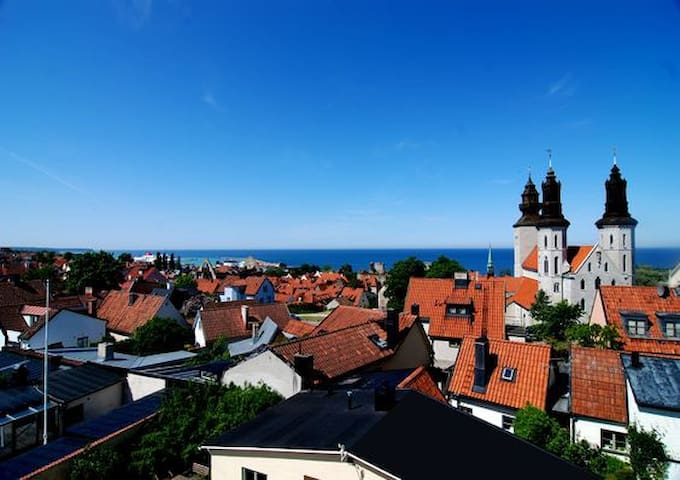 Apartment with stunning view in old town Visby