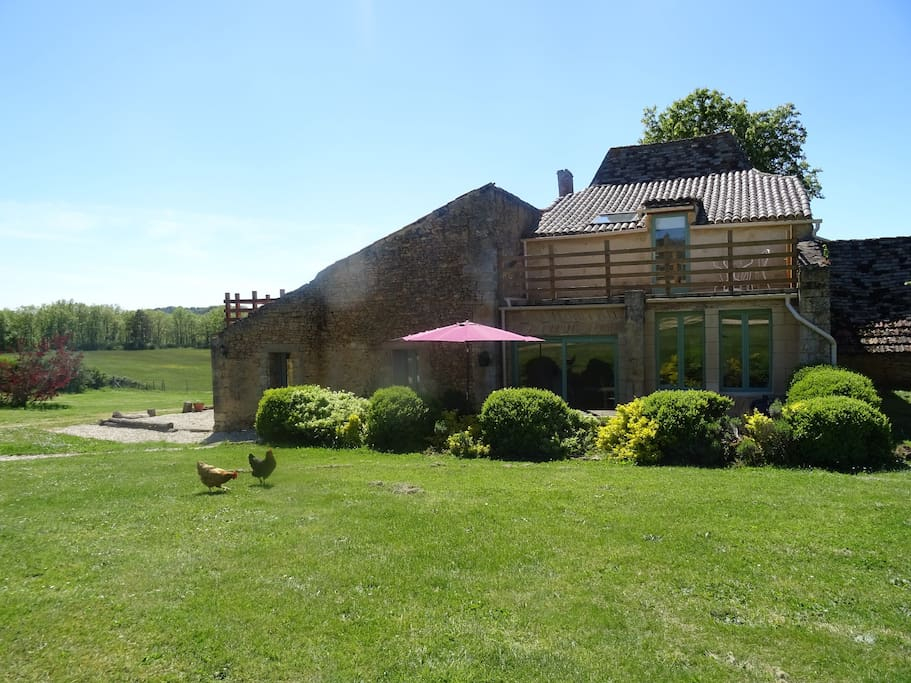 The Barn at Les Vitarelles, complete with tiled roof terraces.