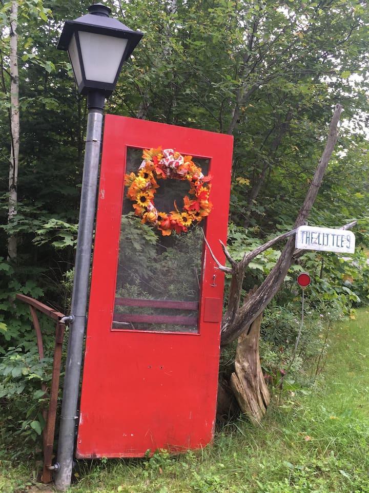 Look for the Red Door.