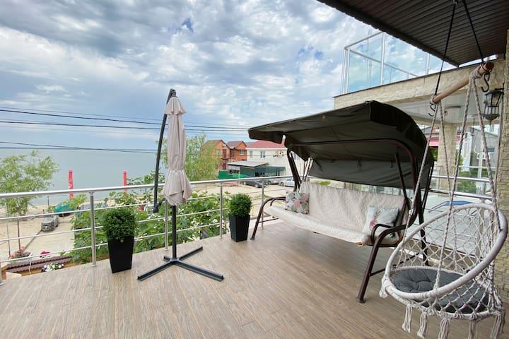 Комнаты с супер видом на берегу лимана 5мин море