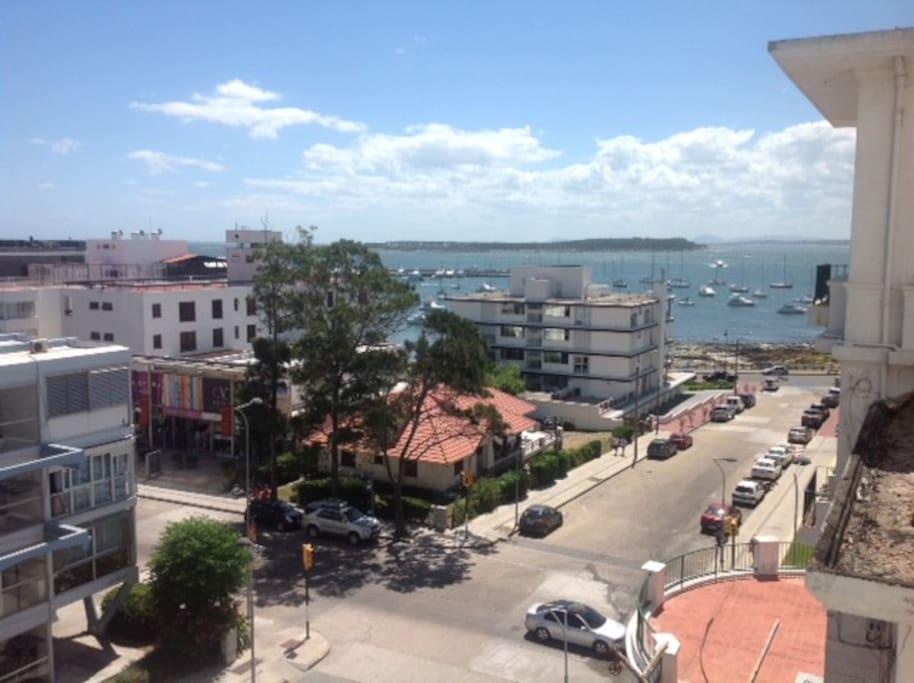 Gran vista al puerto