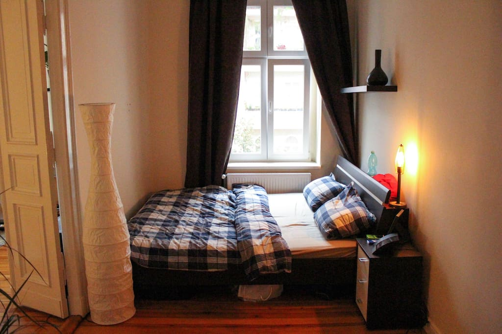 Bedroom - Cozy Bed corner with extra opaque curtains :)