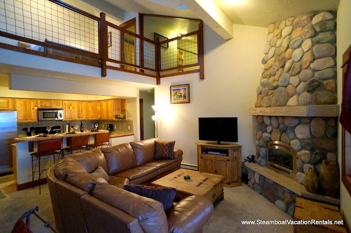Cozy modern condo w/open loft - Steamboat Springs - Apartmen