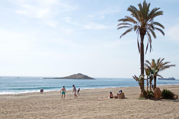 Primera línea de playa con terraza. WIFI - Carboneras - House