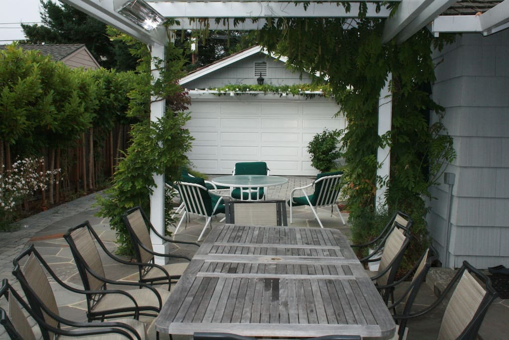 Outdoor patio. We eat outside almost every day and night 3 seasons.