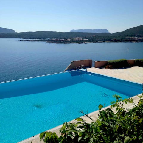 The beautiful pool with amazing view