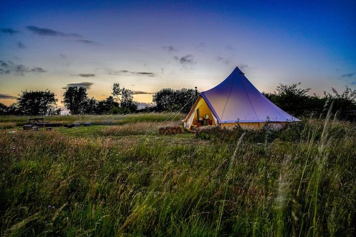 Camp on the wild side in your own private field