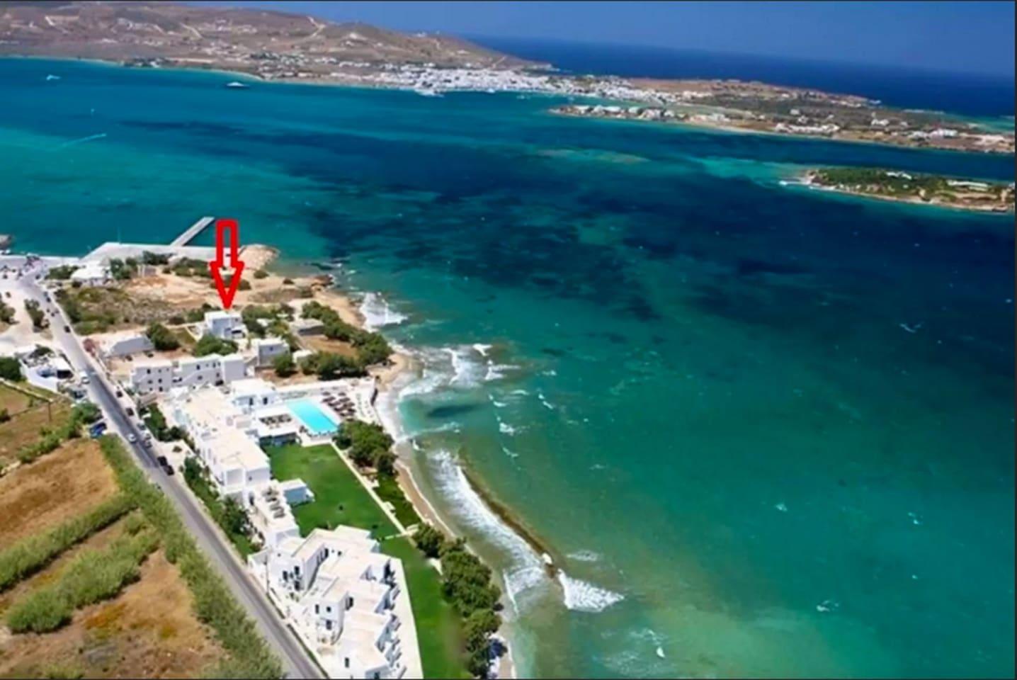 Beach house's location