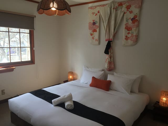 Lodge Blue Mount Hakuba, King/Twin/Triple Room 208 - Hakuba - mura - Chalet