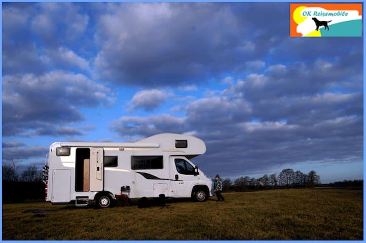 Wohnmobil b. 6 Pers., Hunde erlaubt - Ellerdorf - Camper/RV