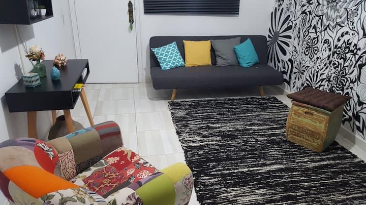 Kitnet confortável na Orla da Praia/ Santos