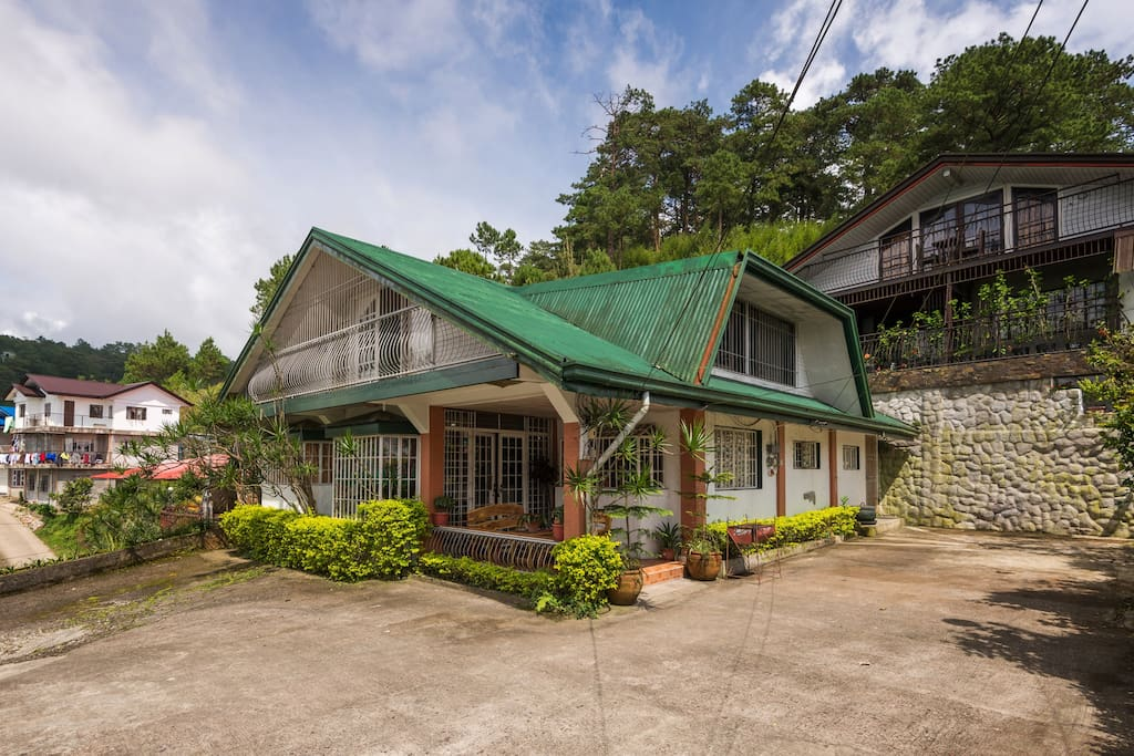 The house has two bedrooms/2 CRs downstairs that sleep 5 persons. Additional 3 upstairs sleeps 8 persons, the open space can accommodate an additional 24 persons for a maximum sleeping capacity of 37 persons.