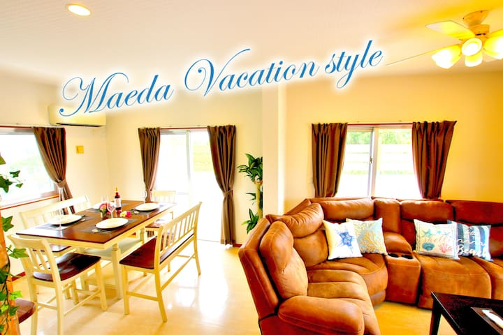Vacation stay/5min for Diving/BBQ/Wi-Fi/3BR/Maeda
