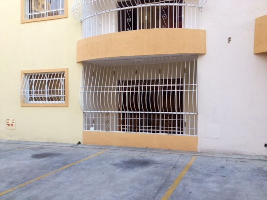 Free parking, first floor balcony