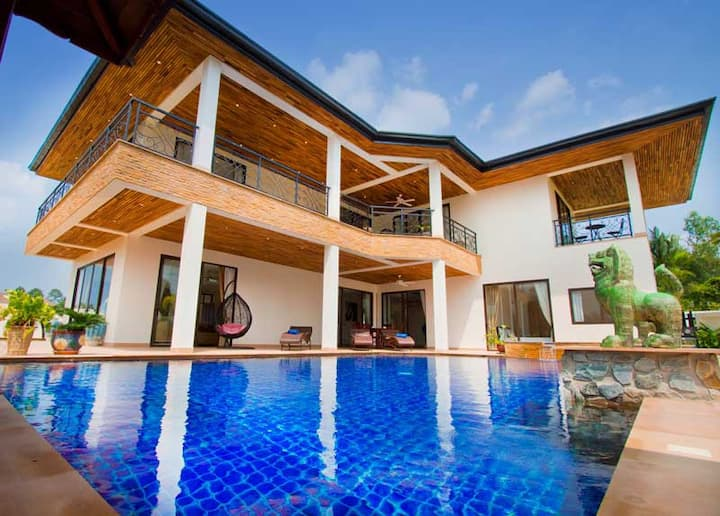 Lux 5 Bed/6 bth Pool Villa Private Healthy Place