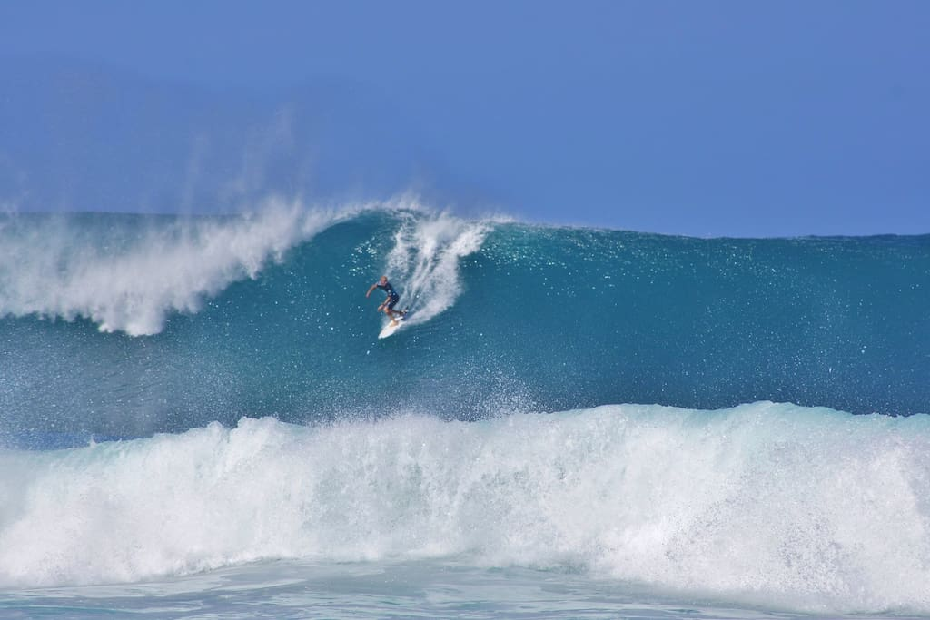 I took this at Pipe Masters 2013 from the beach. If you've never seen Pipeline in the winter, it's a must-see experience!