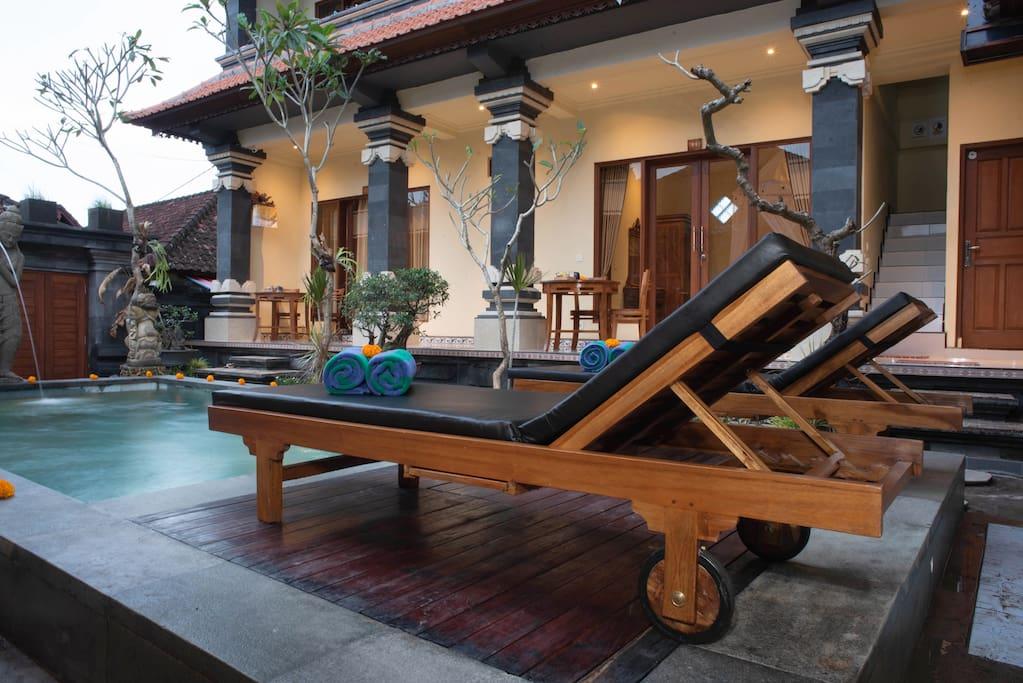 Swimming pool with beautiful garden
