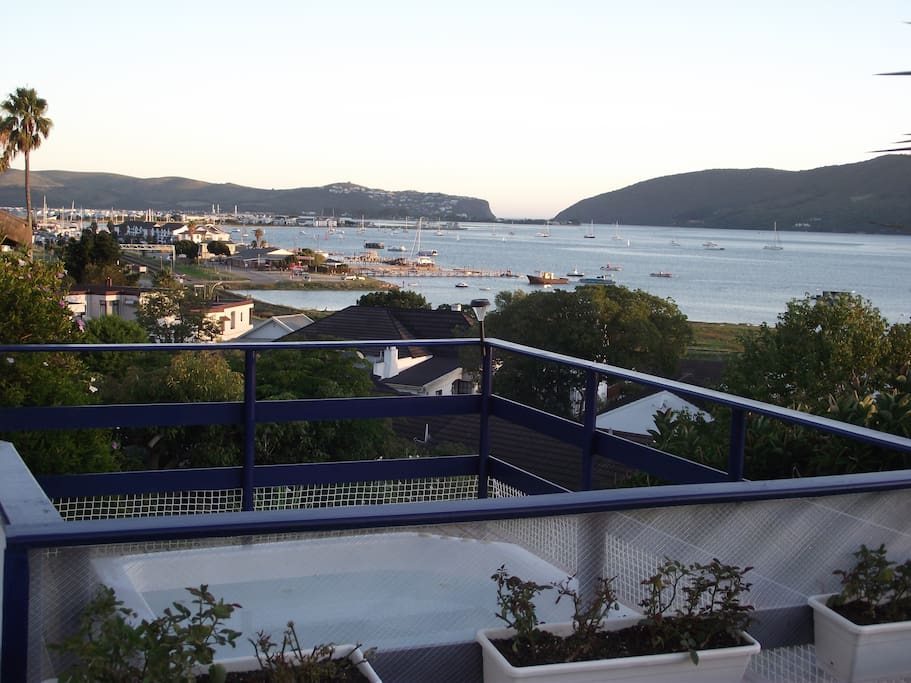 The view from our Jacuzzi and its deck. A wonderful view to enjoy with a Sundowner!