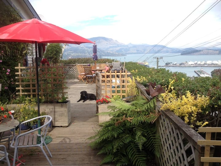 PETS OK! Sunny flat with kitchen,patio and views