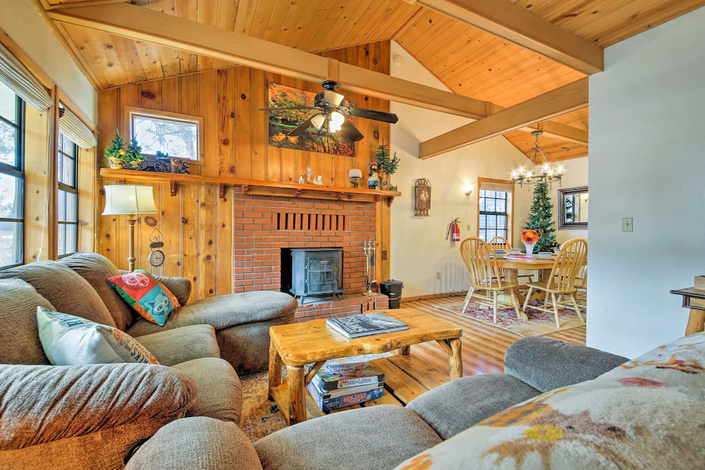 Rest easy inside 1,200 square feet of cozy cabin living space.